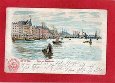 AK Litho Stettin / Szczecin - Hafen und Baumbrücke 1902 - postcard carte postale   eBay