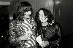 Last picture of Bon Scott alive. 18.02.1980 with Pete Way of UFO