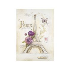 Eiffel Tower Roses ($34) ❤ liked on Polyvore featuring home, home decor, wall art, backgrounds, paris, art, pictures, photos, eiffel tower home decor and rose home decor