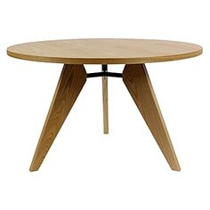 Make the most of weekend breakfasts on the practical Replica Jean Prouve Gueridon Round Dining Table, Ash from Calibre.