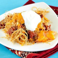 Mexican noodle casserole from Clean Eating