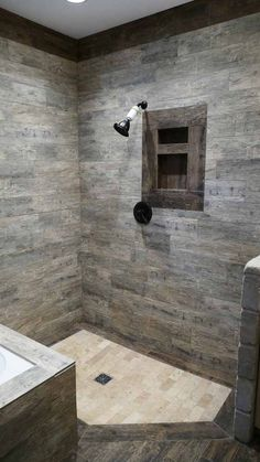 Rustic Walk In Shower from Nelson Design Group house plan: NDG 1429 - Blair Lane https://www.houseplans.ninja/content/1429-blair-lane