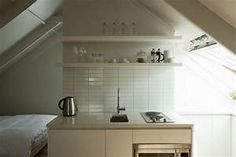 Small-Space Living: An Airy Studio Apartment in a Garage: Remodelista