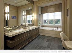Bathroom ideas with great cabinet design Double sink bathroom