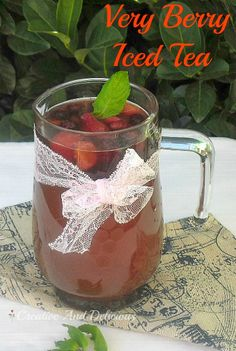 Best Fruity Iced Tea for all to enjoy ~ even the kids love this one ! #IcedTea #Drinks #BerryDrink