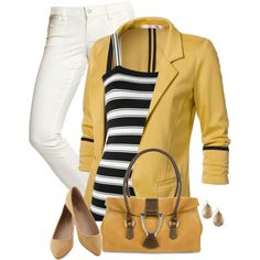 Stripes!!! AAAHH!!  but i might choose a different color for the blazer and different shoes...
