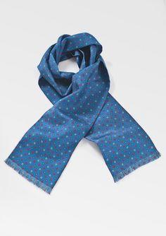 Indigo blue silk scarf by Cantucci