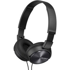 Sony Black Folding Stereo Headphones ($20) ❤ liked on Polyvore featuring accessories, tech accessories, headphones, sony headphones, sony, folding headphones, apple iphone headphones and ipod headphones