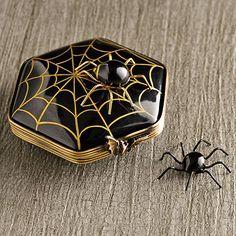 Limoges Spider On Spiderweb