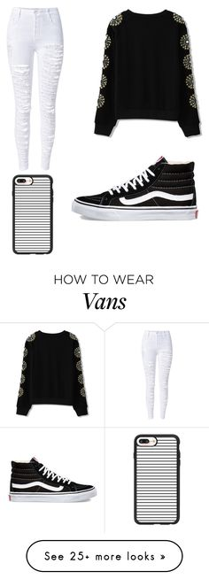 """""""Black and White"""" by christinamerski on Polyvore featuring WithChic, Vans and Casetify"""