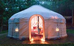 Luxury yurt & tipi camping in a magical woodland setting Yurt Camping, Campsite, Outdoor Camping, Glamping, Camping List, Camping Ideas, Luxury Yurt, Luxury Travel, Yurt Living