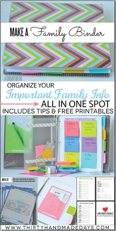 Make a Family Binder with Free Printables