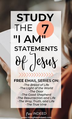 One Way to Water Dry Faith I Am Statements of Jesus Youth Bible Study, Small Group Bible Studies, Bible Study Plans, Free Bible Study, Bible Study Group, Bible Study Tips, Bible Study Journal, Bible Lessons, Bible Study On Prayer