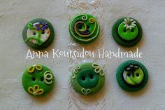 Buttons Set [ Fimo Clay Handmade ] by annakoutsidou