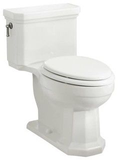 KOHLER K-3324-0 Kathryn Comfort Height One-Piece Elongated Toilet , Less Seat in - Traditional - Toilets - by PlumbingDepot.com