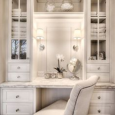 Image result for small built-in dressing vanity