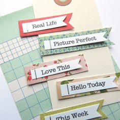 Real Life Title Embellishments for Scrapbooking by NikkisPapery