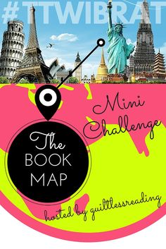 guiltless reading: Travel the World in Books Mini Challenge + #Giveaway: Make your own Book Map! #TTWIBRAT