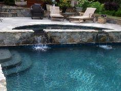 Emerald Bay Pebble Tec Pool Finish   raleigh   by Signature Aquatics pebbletec