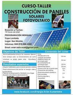 Curso Taller Construcción de Paneles Solares #Curso, #Taller, #Construcción, #De, #Paneles, #Solares