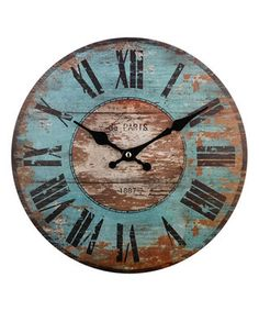 Paris Weathered Clock
