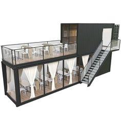 Cafe Shop Design, Coffee Shop Interior Design, Restaurant Interior Design, House Design, Design Design, Graphic Design, Container Home Designs, Building A Container Home, Container House Plans
