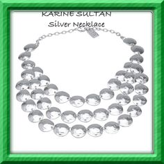 Sterling Silver three strands Necklace.
