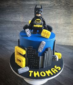 Batman lego birthday cake by Haley Popp on satinice.com!