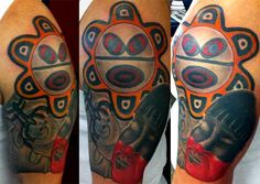 Taino Tattoo of the sun and a native