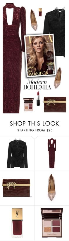 """""""05.07.2017"""" by bliznec-anna ❤ liked on Polyvore featuring Christopher Kane, Rasario, GINTA, Charlotte Olympia, Sergio Rossi, Yves Saint Laurent and MAC Cosmetics"""