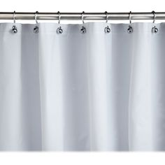 Homz Plastic White Shower Curtain Liner, 70 X 72 Inch