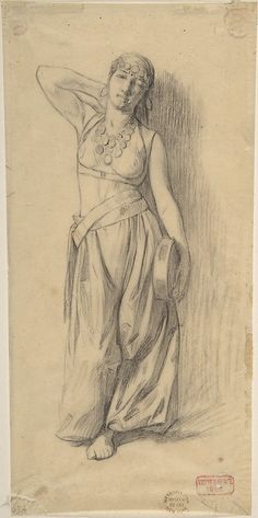 """Study for """"The Almeh"""" by Charles Bargue"""