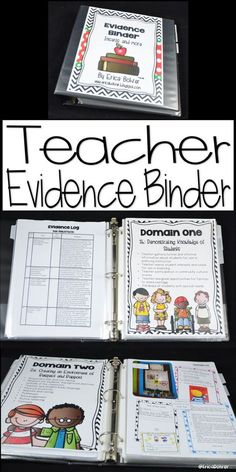Binder Dividers, Inserts, Logs, and More Teacher Evidence Binder based on the Danielson Rubric.Teacher Evidence Binder based on the Danielson Rubric. Teacher Binder, Teacher Tools, Teacher Resources, Teaching Ideas, Teachers Toolbox, Student Teaching, Teacher Stuff, Teacher Planner Free, Real Teacher