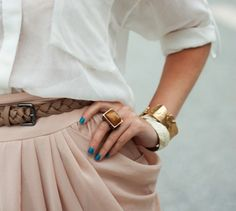 whle u r noticing the ring and bracelt...i luv the  skirt pleats
