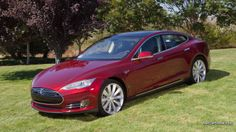 Tesla S . a complete electric car. can you imagine ??  and oh!! so curvy...