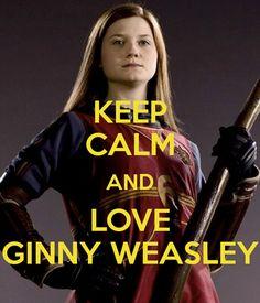 KEEP CALM AND LOVE GINNY WEASLEY Poster | eowyn_14 | Keep Calm-o-Matic