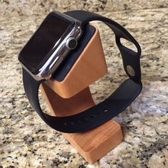 Wood Apple Watch Charging Stand ~ LAST ONE Sturdy wood Apple Watch Charging stand ~ natural wood finish Accessories Watches