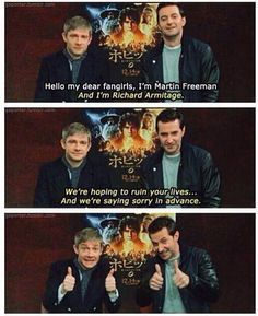 Martin Freeman & Richard Armitage - Battle of the Five Armies promo