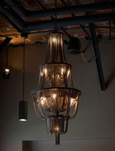 utterly cool. Recycled Bicycle Chandeliers