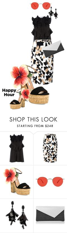 """""""leave the blazer"""" by bananya ❤ liked on Polyvore featuring Givenchy, Brian Atwood, Garrett Leight, Oscar de la Renta and L.K.Bennett"""
