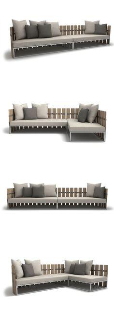 Rodolfo Dordoni Fence Outdoor Sofa