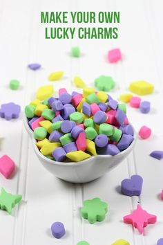 This post teaches you how to make your own Lucky Charms cereal. Create marshmallows in any color and shape! They're magically delicious!