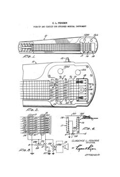 wiring diagram fender squier cyclone fender guitar pick up circuit 1950 s patent art drawing digital last min gift idea get it today