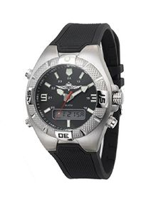 Adi 222 IDF Paratroopers Unit Mens Sport Watch  Analog to Digital Water Resistance stainless Steel -- You can get more details by clicking on the image.Note:It is affiliate link to Amazon.