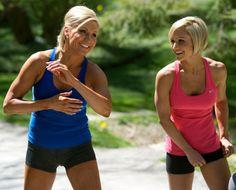 Tosca Reno, (left) along with workout mogul Jaimie Eason, at Reno's Caledon, Ontario home.