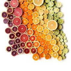 """""""I couldn't help but create two photographs of citrus this season. I think of this as an expansion of the one I created in 2014. #foodgradients"""" - Brittany Wright"""