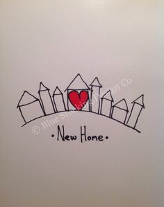 New Home Card, Housewarming Card on Etsy, $1.70