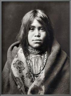 Apache Girl, C1903 Framed Art Print
