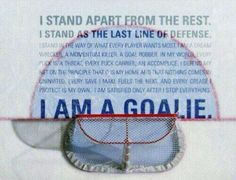 i am a goalie