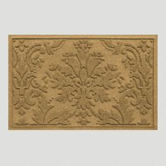 One of my favorite discoveries at WorldMarket.com: Brocade WaterGuard Standard Doormat, Flax